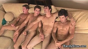 Super Hot Studs In Gay Foursome 5
