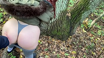 Outdoor pick up redhead and fuck in the forest KleoModel