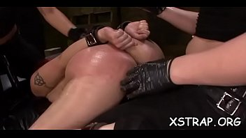 Enjoys thong doggy lassie on tied fuck a can