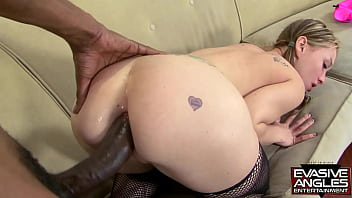 EVASIVE ANGLES Whooty Oiled Booty. He takes that huge thing and pushes it deep into her little ass, pulls out and makes her suck it so he can blow his juice all over her pretty face.