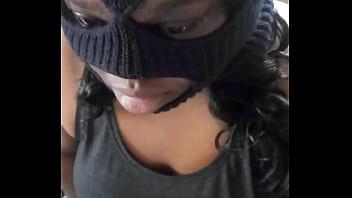 Masked burglar caught and deepthroated