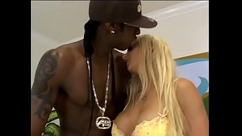 Stunning blonde whore with big tits Victoria Spencer takes black huge cock inside wide shaved pussy