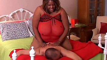 Xtra large and lovely black BBW has amazing big tits