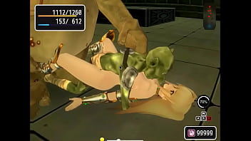 Hot woman hentai in sex with monster man goblin orc in adult porn gameplay ryona