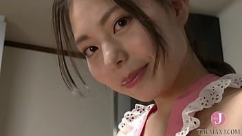 Cute Japanese wife with bouncy tits wear sexy apron to seduce you in the kitchen [bfaz-005]