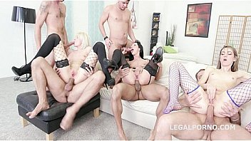 Fisting Madness before Wild sex Orgy with Bree Haze, July Sun, and Tera Link