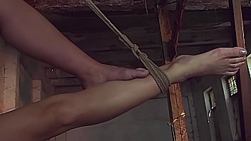 Fully suspended beauty. Kathia Nobili, like his toy.