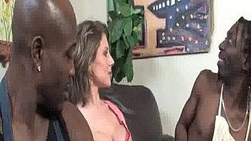 Cougar in Middle of Black Cocks