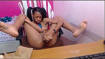 Black Girl Has Fun with her Dildo