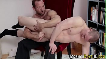 Spanked Mormon Hunk Cums