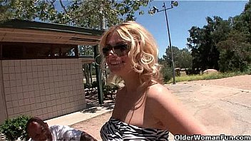 Blonde soccer mom Brooklyn Bailey makes her cuckold hubby watch