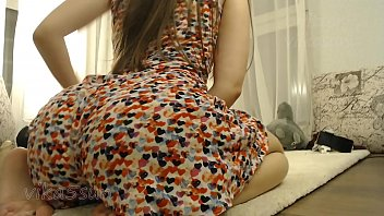 Russian Young Girl Shows Her Big Ass