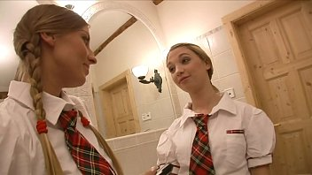Two lazy schoolgirls Morgan Moon and Mina were left at maths classroom to get make-up class