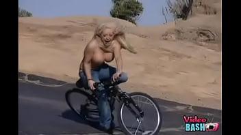 Hot Girl Bails Hard Off Bike