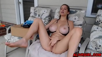 Slender young coed ElaySmith with...