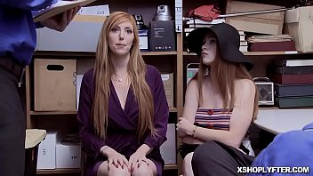 Watch Lauren Phillips and Scarlett Snow bend over their asses on the desk and the Officer fucks them! preview