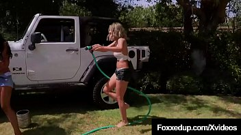 Watch Young Black Canadian Jenna Fox has some hot car wash playtime with short haired hottie Shy Love that turns into some heavy lesbian loving in the back of a Jeep Wrangler! Pussy Licking & Scissor Fucking hotness! preview