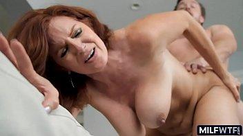 Redhead saggy tit cougar