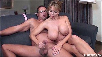 Busty Bbw Mom Wanks Son's Cock