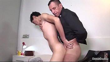 Hungry gay eats dicks