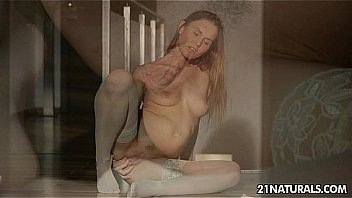 Sexy sabrina shows it all - stockings Thumbnail