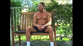 Muscular dude deep fucks lewd hussy outdoor