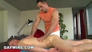 GAYWIRE - Gay Massage Ends With Steamy Muscle Jocks Having Bareback Sex