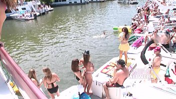 Naked Partiers On Boats