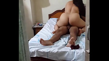 Milf with big ass rides her hubby