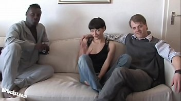 Pia made her Boyfriend to a cuckold! he must watch her first BBC fuck