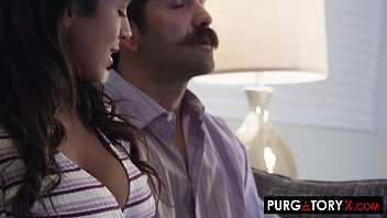 Busty brunette fucks her therapist and her husband at the same time Thumbnail