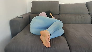 arab gets big white cock in her tight pussy with blue jeans and hijab