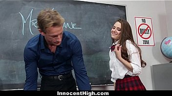 Innocent High - Teen Brunette (Elektra Rose) Gets Screwed By Her Teacher