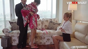 LOS CONSOLADORES - (Marie Silvia & Miyuki Son) Andy Stone Gets To Bang In Threesome Sex With His Wife And A Super Hot Asian Girl