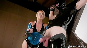 Watch Blonde Milf_anal fucks male slave_with strap on dick preview