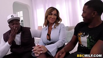 Busty Cougar Aubrey Black Has Rough Interracial Threesome Sex