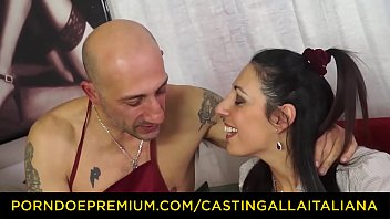 casting alla italiana sexy brunette gets rough anal