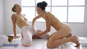 Massage Rooms Tina Tina bends Alexis Crystal over and fingers her doggystyle to orgasm, then has Alexis eat her pussy until she can cum too