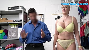 Milf Caught Stealing and have to remove clothes - Thief Milfs