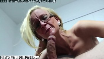 White girl deep throats black cock