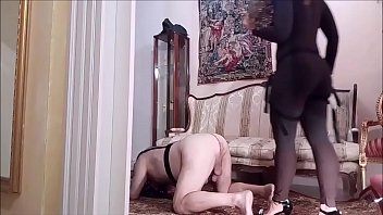 sexy babe gives soft blowjob gif
