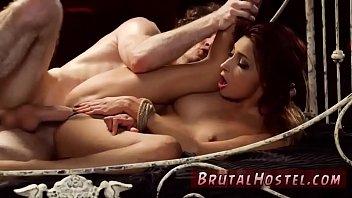latina tranny has threesome with cum