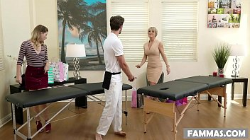 Watch Busty Stepmom shares the masseur's dick with her Daughter preview