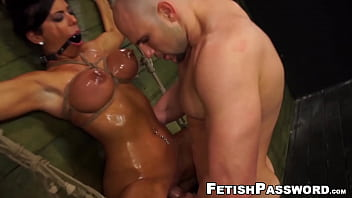 Submissive babe disciplined by kinky couple