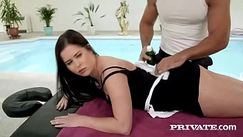 Cassie Fire Hotel Maid Enjoys Anal with the Masseur