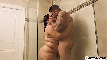 Gorgeous BBW Karla Lane fucked in the shower