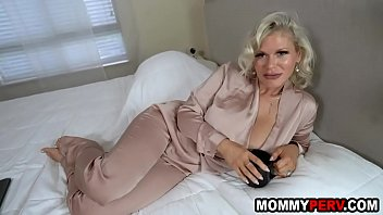 Watch Blonde milf mom with big fake boobs fucking son preview