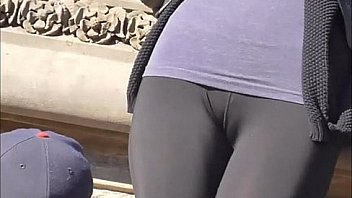 Cameltoe Seethrough Lycra Spandex Candid (263)