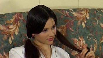 Russian teen - Dark haired beauty.