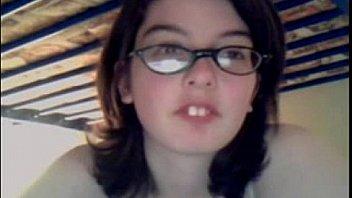 Nerd Girl Makes a Mess on Webcam - s9cams.com